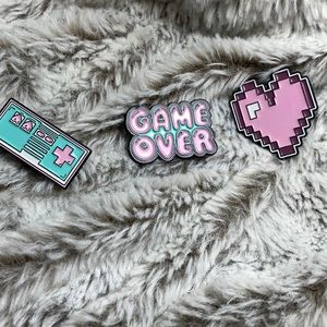 Gamer Girl Enamel Pin Trio